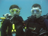 Annette and Chris diving in Gran Canaria