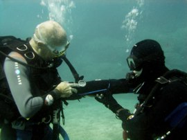 on your PADI Open Water Course you get free use of Dive Computers