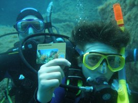 At the end of your PADI Open Water course you get a special 5* PADI qualification card