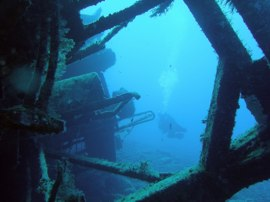 With more experience you can try wreck diving in Gran Canaria