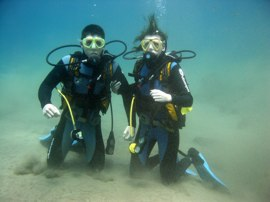 Your first dive in Gran Canaria in the calm clear waters of the El Cabron Marine Reserve